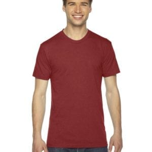 custom american apparel triblend custom shirt tr401w tri red