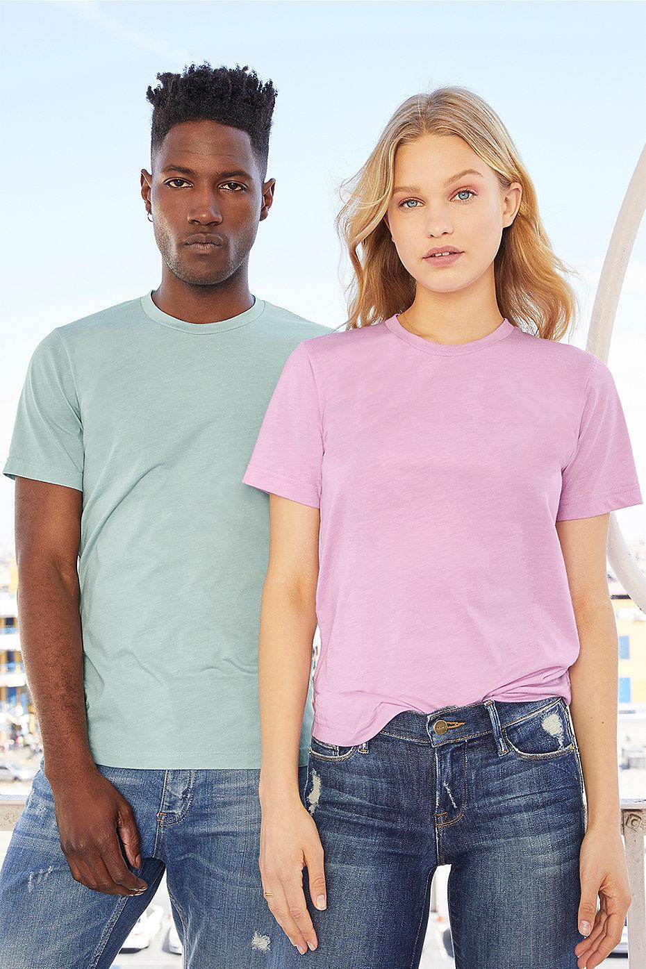 9cfa407e custom bella canvas 3413c triblend short sleeve bulk custom shirts model