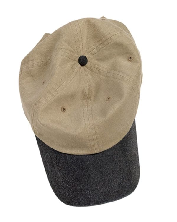 custom hats authentic pigment 1910 custom baseball cap khaki-black