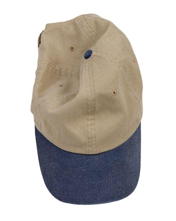 custom hats authentic pigment 1910 custom baseball cap khaki-navy
