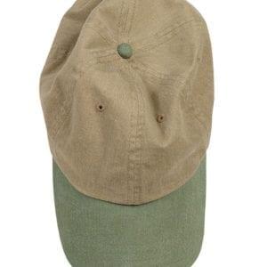 custom hats authentic pigment 1910 custom baseball cap khaki-willow