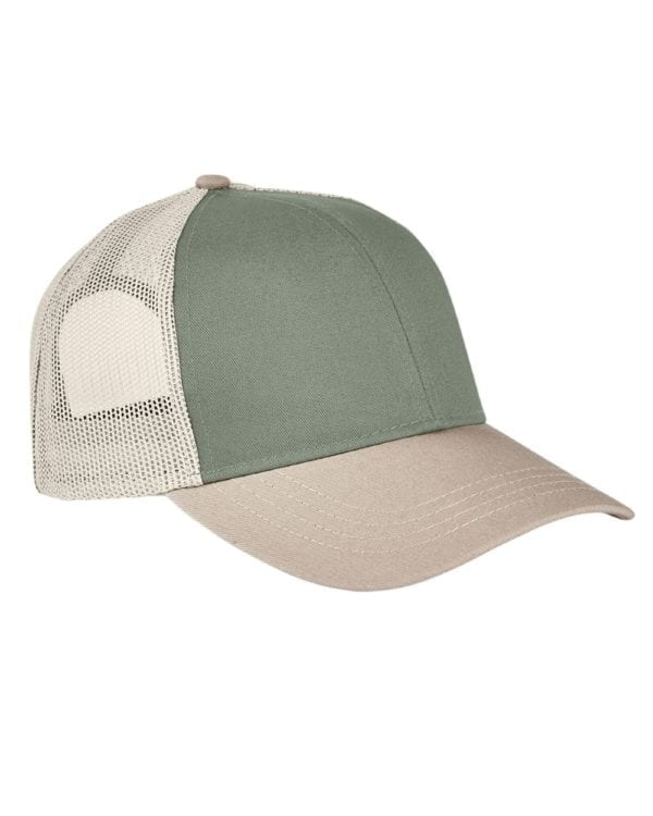 custom hats authentic pigment ap1919 tricolor custom trucker hat cilantro-stn-kh