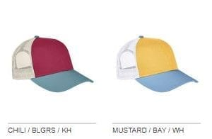 custom hats authentic pigment ap1919 tricolor custom trucker hat colors