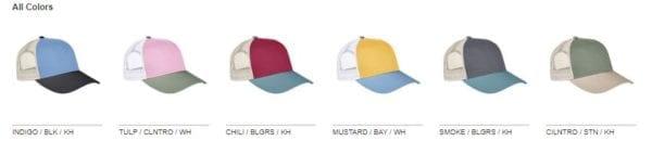custom hats authentic pigment ap1919 tricolor custom trucker hat colors