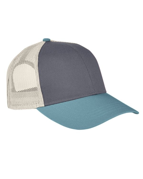 custom hats authentic pigment ap1919 tricolor custom trucker hat smoke blgrs-kh