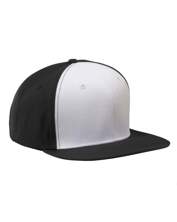 custom hats big accessories ba516 flat bill snapback custom black and white cap