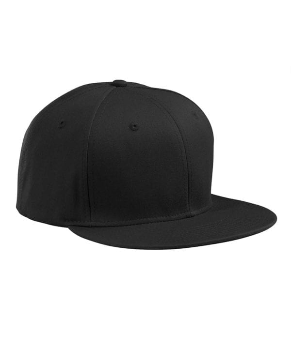 custom hats big accessories ba516 flat bill snapback custom cap black