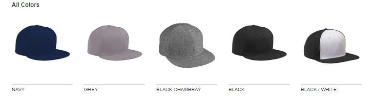 Big Accessories BA516 Flat Bill Snapback Cap - Bulk Custom Shirts