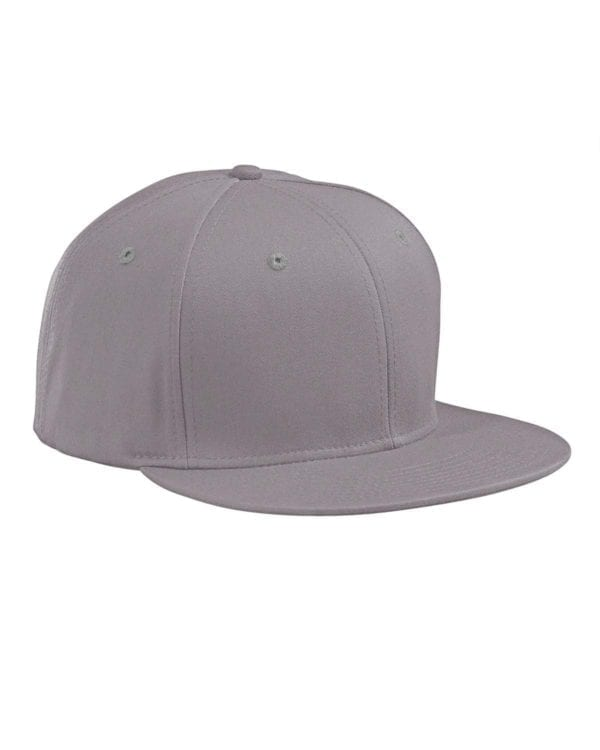 custom hats big accessories ba516 flat bill snapback custom cap grey