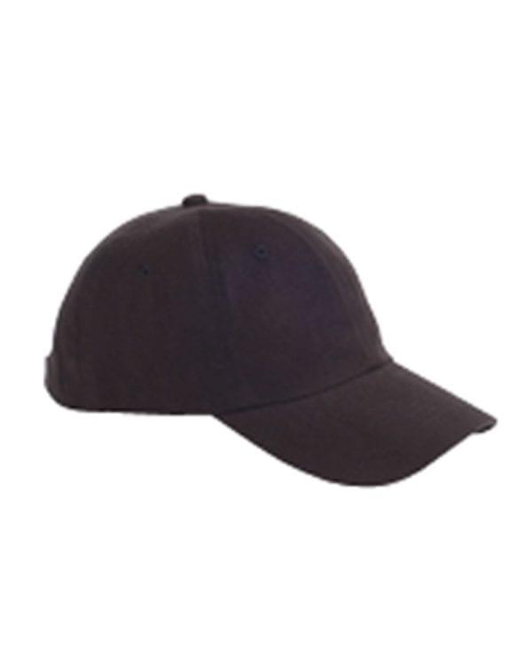 custom hats big accessories bx001 6-panel brushed twill unstructured custom hat black