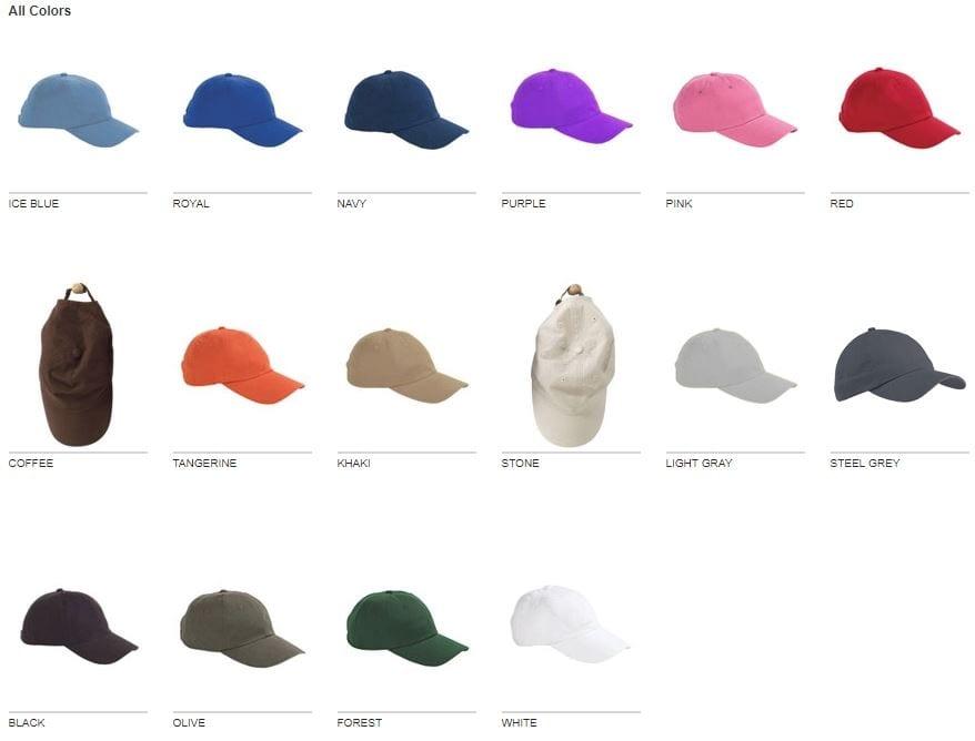 7a95e6c5d9948 Big Accessories BX001 6-Panel Hat Unsctructured - Bulk Custom Shirts
