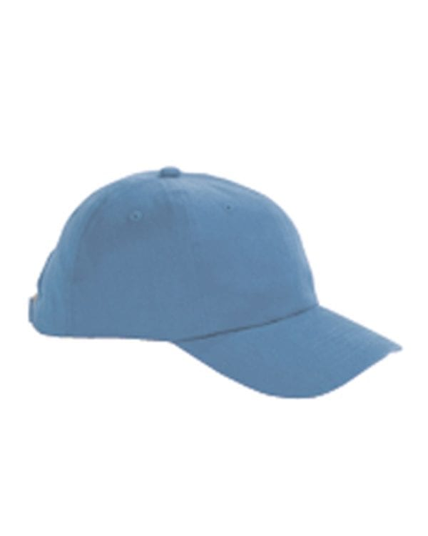 custom hats big accessories bx001 6-panel brushed twill unstructured custom hat ice blue