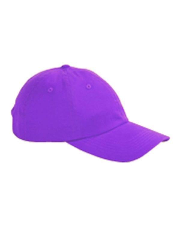 custom hats big accessories bx001 6-panel brushed twill unstructured custom hat purple