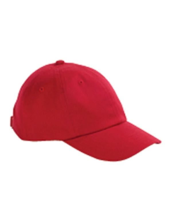 custom hats big accessories bx001 6-panel brushed twill unstructured custom hat red