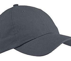 custom hats big accessories bx001 6-panel brushed twill unstructured custom hat steel grey
