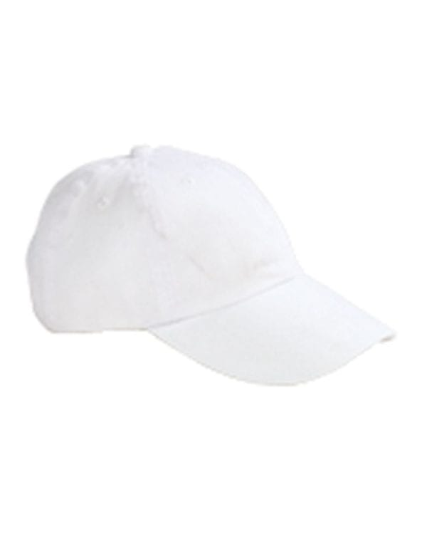 custom hats big accessories bx001 6-panel brushed twill unstructured custom hat white
