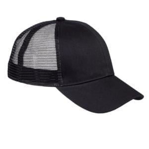 custom hats big accessories bx019 6-panel trucker snapback custom cap black