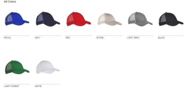 custom hats big accessories bx019 6-panel trucker snapback custom cap colors