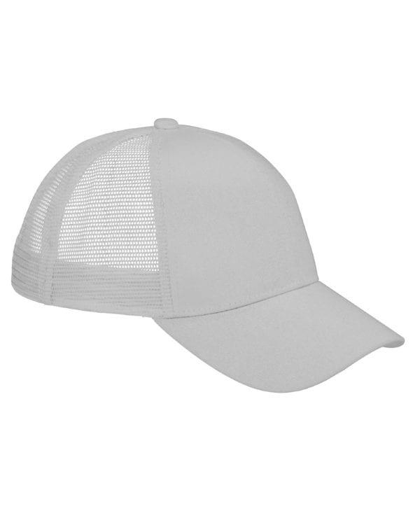 custom hats big accessories bx019 6-panel trucker snapback custom cap light gray
