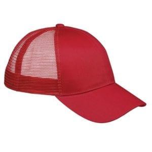 custom hats big accessories bx019 6-panel trucker snapback custom cap red
