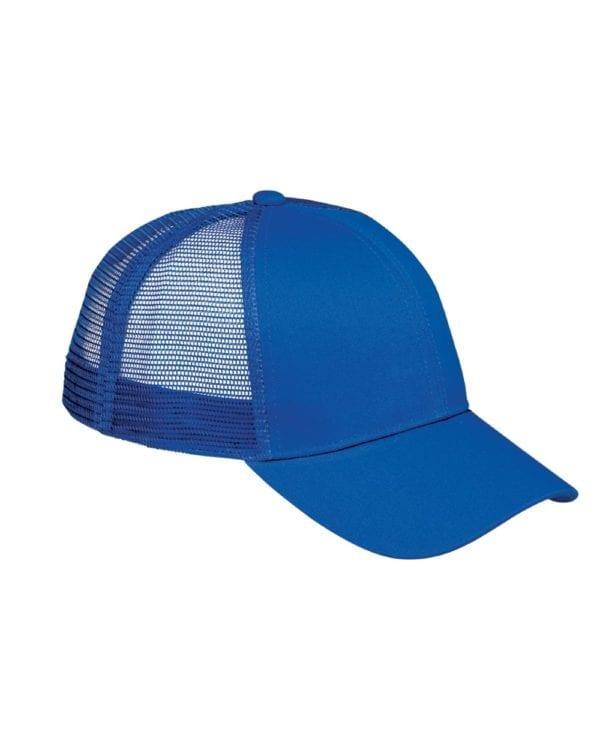 custom hats big accessories bx019 6-panel trucker snapback custom cap royal