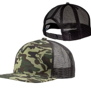 custom-hats-big-accessories-bx025-surfer-trucker-custom-cap-forest-camo-black back front