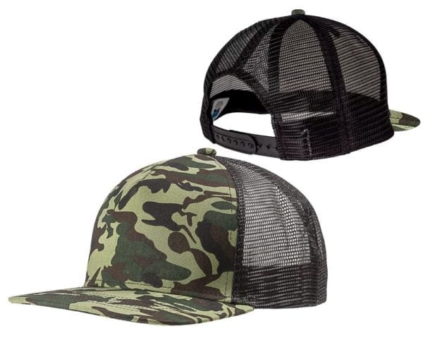 custom-hats-big-accessories-bx025-surfer-trucker-custom-cap-forest-camo-black back front