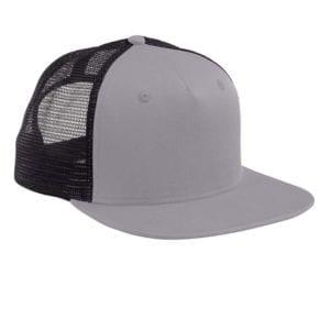 custom hats big accessories bx025 surfer trucker custom cap grey-black