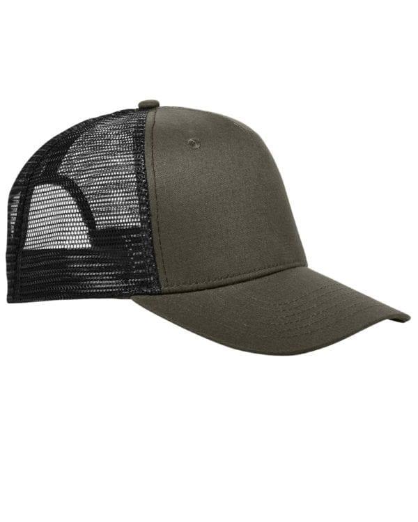 custom hats big accessories bx025 surfer trucker custom cap olive black