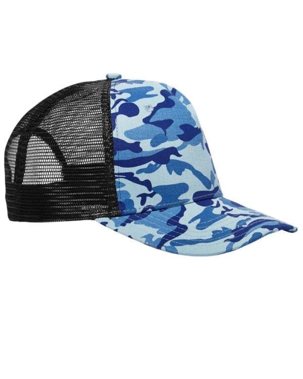 custom hats big accessories bx025 surfer trucker custom cap water camo black
