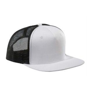 custom hats big accessories bx025 surfer trucker custom cap white black