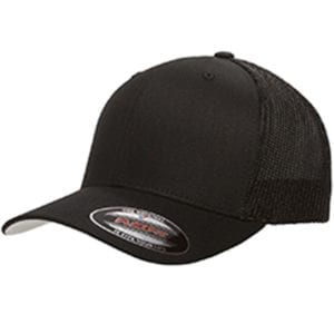 custom hats flexfit 6511 6-panel custom trucker hat bulk custom shirts black
