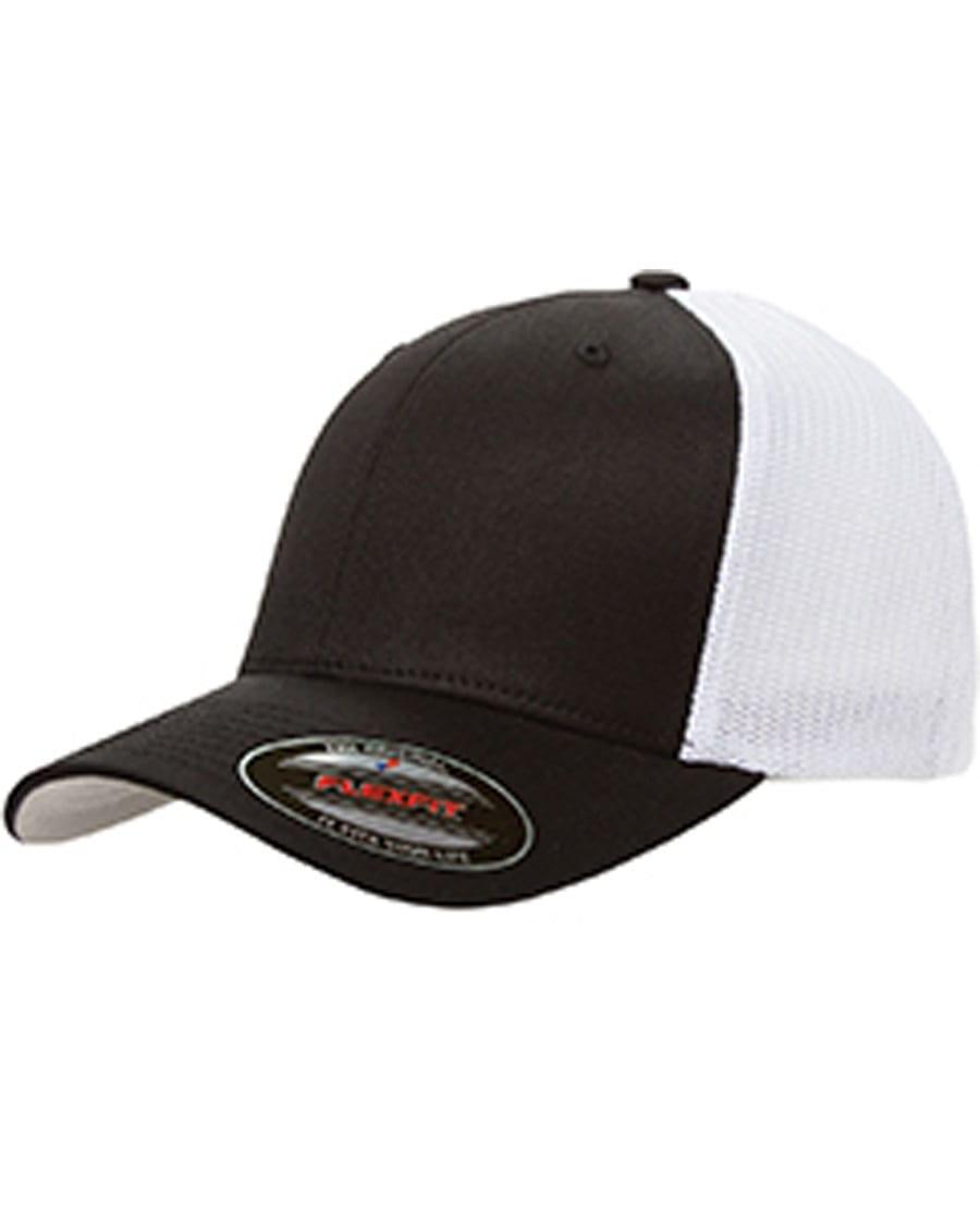 3d115292e9ced custom hats flexfit 6511 6-panel custom trucker hat bulk custom shirts  black white
