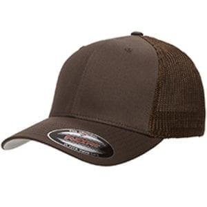 custom hats flexfit 6511 6-panel custom trucker hat bulk custom shirts brown