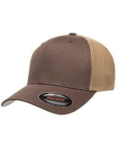 custom hats flexfit 6511 6-panel custom trucker hat bulk custom shirts brown khaki