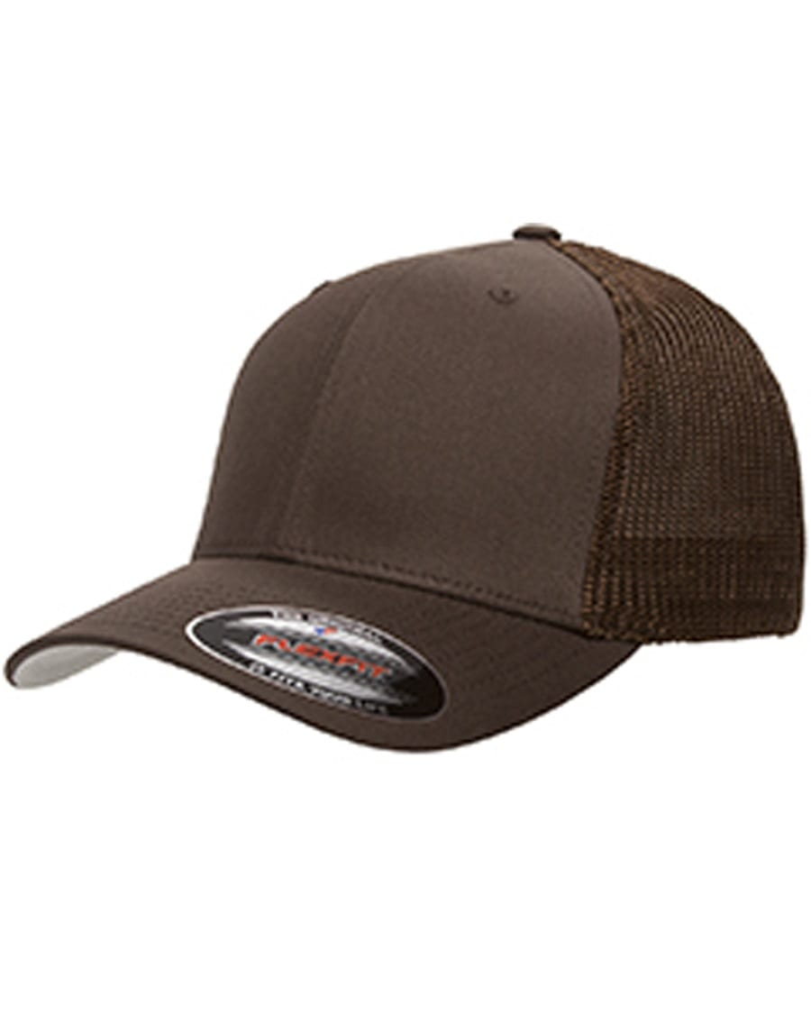 a399de9898622 custom hats flexfit 6511 6-panel custom trucker hat bulk custom shirts brown