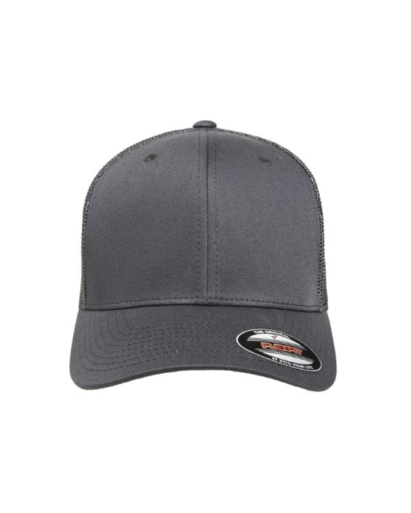 custom hats flexfit 6511 6-panel custom trucker hat bulk custom shirts charcoal