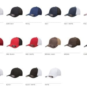 custom hats flexfit 6511 6-panel custom trucker hat bulk custom shirts colors