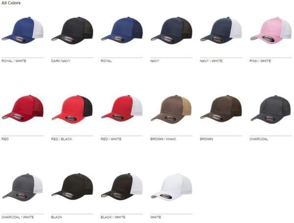 custom hats flexfit 6511 6-panel custom trucker hat bulk custom shirts colors