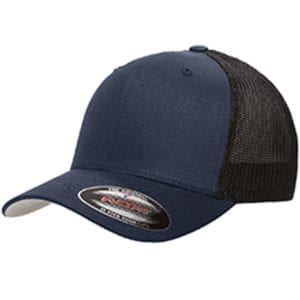 custom hats flexfit 6511 6-panel custom trucker hat bulk custom shirts navy