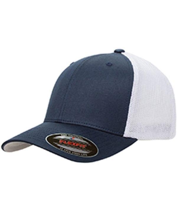 custom hats flexfit 6511 6-panel custom trucker hat bulk custom shirts navy white