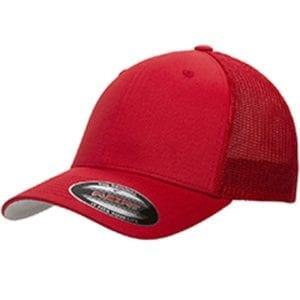 custom hats flexfit 6511 6-panel custom trucker hat bulk custom shirts red