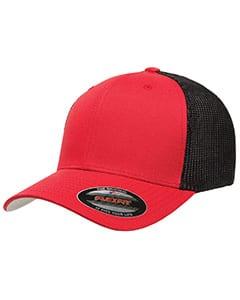 custom hats flexfit 6511 6-panel custom trucker hat bulk custom shirts red black