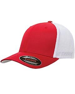custom hats flexfit 6511 6-panel custom trucker hat bulk custom shirts red white