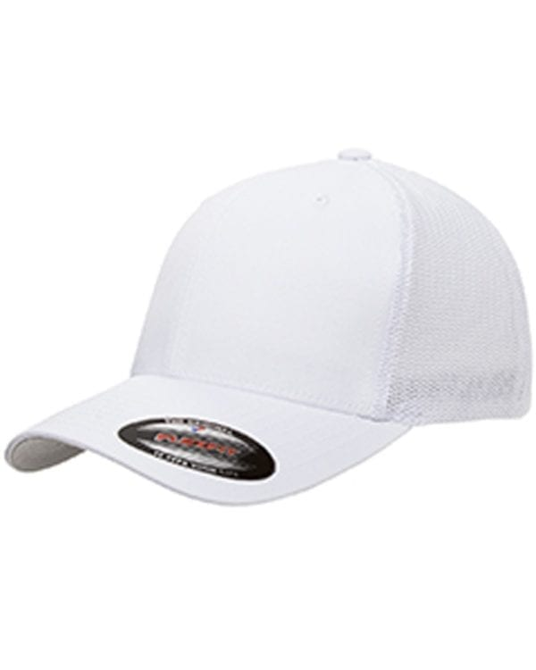 custom hats flexfit 6511 6-panel custom trucker hat bulk custom shirts white