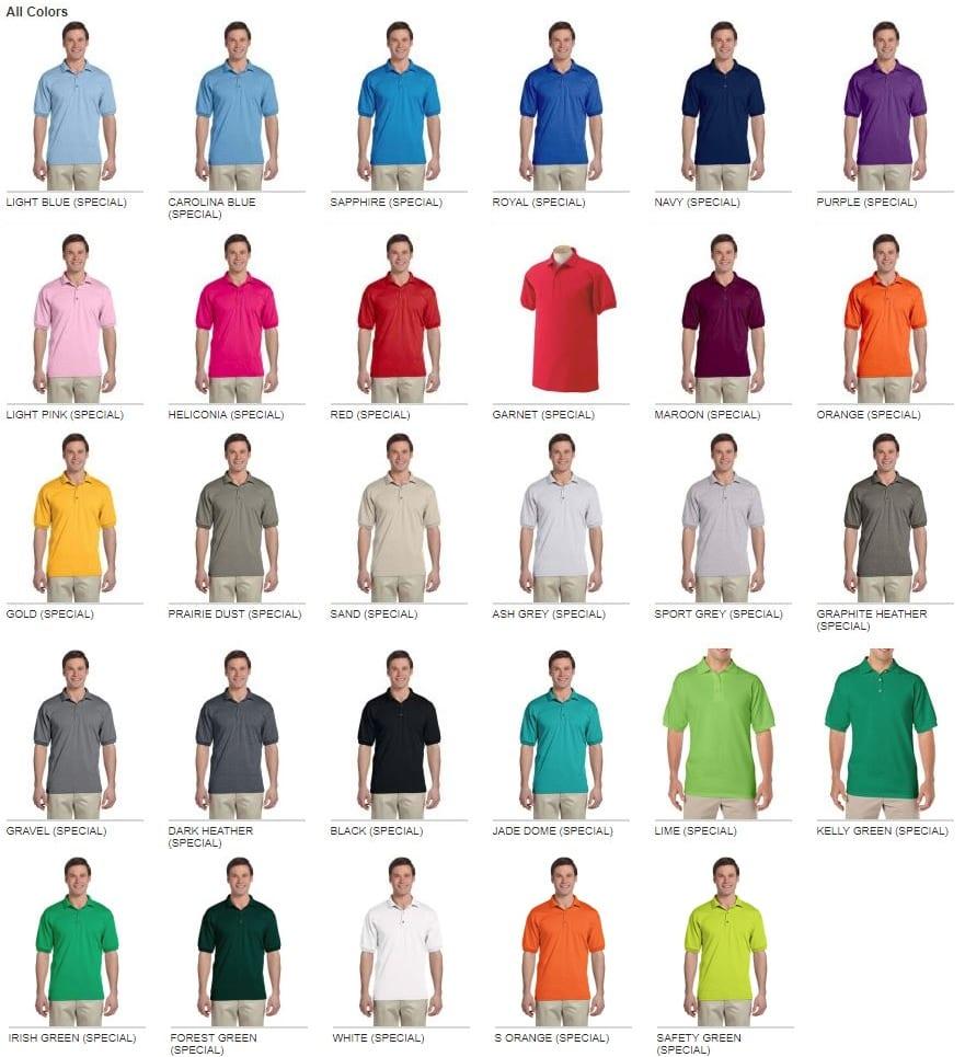9c73348f Gildan G880 Adult Affordable Custom Polos   Bulk Custom Shirts