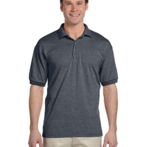 custom polo bulk custom shirts gildan g880 50-50 polo dark heather