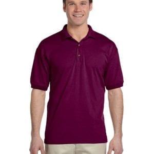 custom polo bulk custom shirts gildan g880 50-50 polo maroon