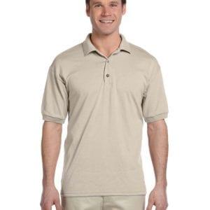 custom polo bulk custom shirts gildan g880 50-50 polo sand