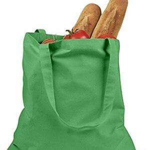 custom shopping bag custom tote bags badedge be007 kelly-green